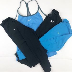 Nike Workout Shirts Athletic Tops Bundle XS